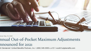 Annual Out-of-Pocket Maximum Adjustments Announced for 2021