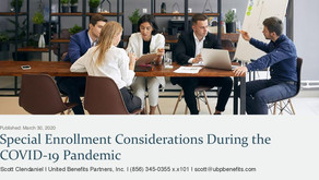 Special Enrollment Considerations During the COVID-19 Pandemic