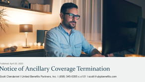Notice of Ancillary Coverage Termination