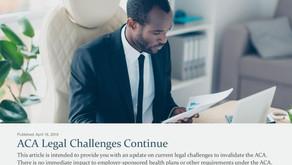 ACA Legal Challenges Continue