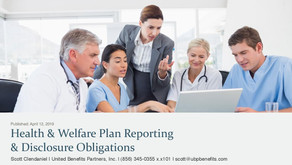 Health Welfare Plan Reporting: Disclosure Obligations