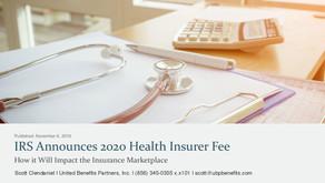 IRS Announces 2020 Health Insurer Fee