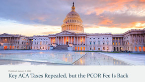 Key ACA Taxes Repealed, but the PCOR Fee is Back