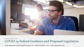 COVID-19 Federal Guidance and Proposed Legislation