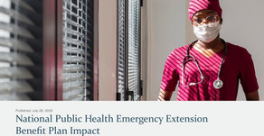 National Public Health Emergency Extension Benefit Plan Impact