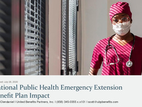National Public Health Emergency Extension Benefit Plan Impact