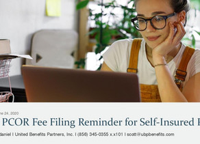 PCOR Fee Filing Reminder for Self-Insured Plans