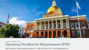 Upcoming Deadline for Massachusetts PFML