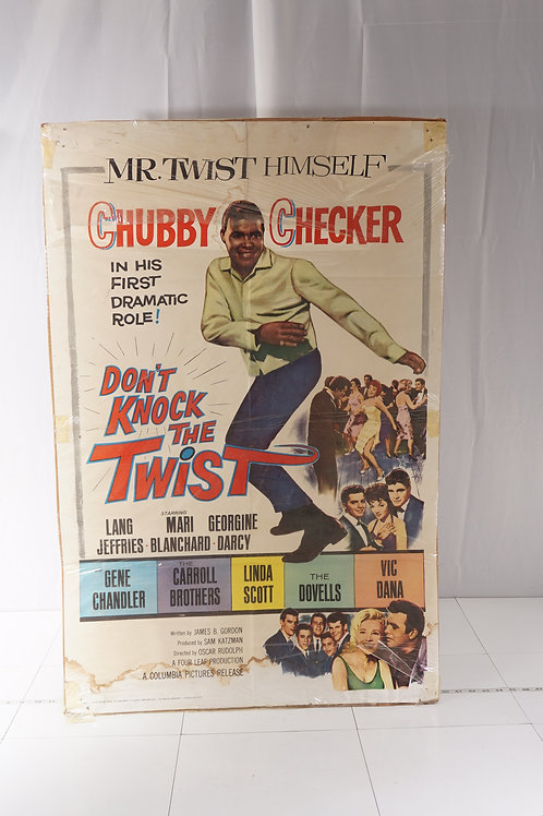 1962 Movie Poster Don't Knock The Twist