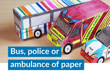 How to create a bus, police or ambulance of paper?