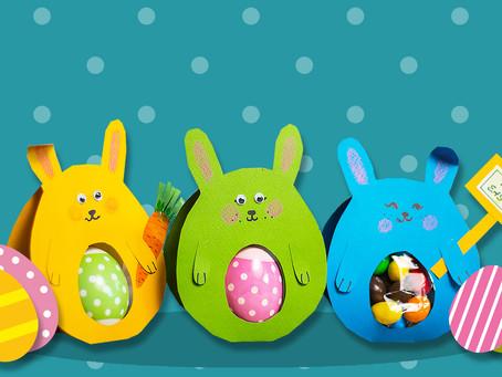 How to make a paper Easter egg holder?