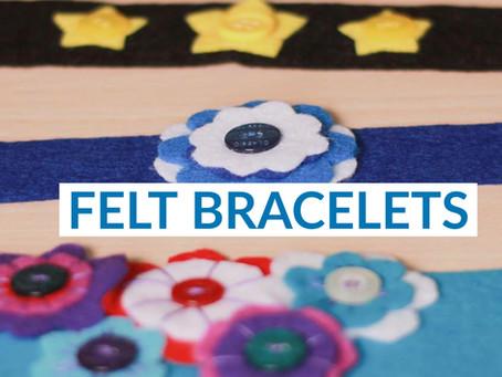 How to make a felt bracelet?