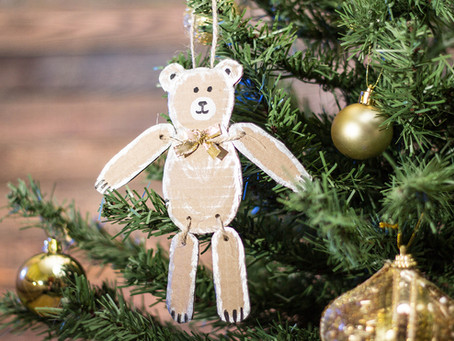 Christmas decoration together with children