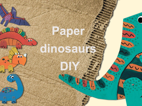 How to make a paper dinosaurs?
