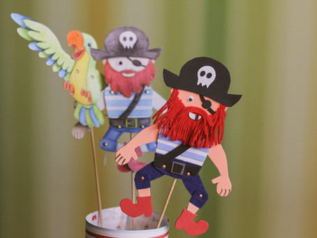 How to make a paper pirate puppet?