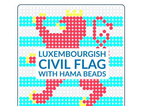 How to create a Luxembourgish Civil Flag by using Hama Beads