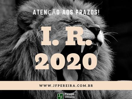 IMPOSTO DE RENDA PESSOA FÍSICA 2019/2020