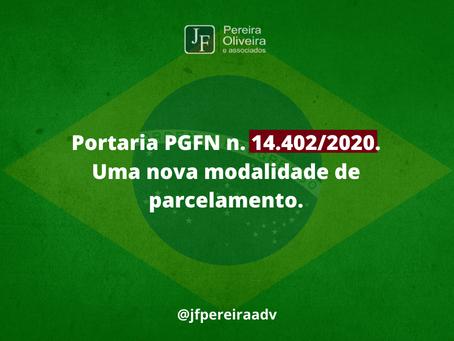 Portaria PGFN n. 14.402/2020 uma nova modalidade de parcelamento (Transação Excepcional )