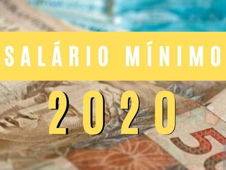 NOVO SALÁRIO MÍNIMO NACIONAL PARA 2020