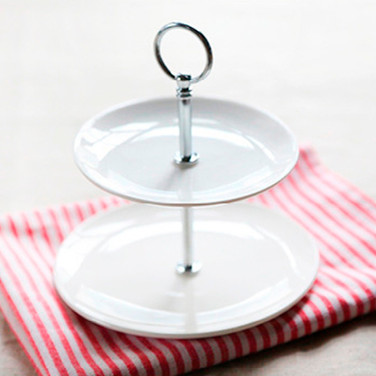 Two Teir White Cake Stand
