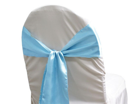 Light Blue Chair Tie