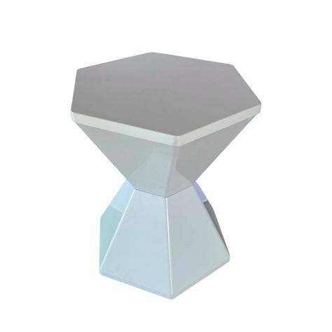Hexagon White Stool