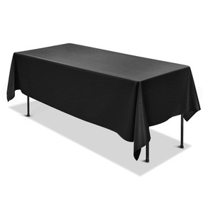 Black Rectangle Table Cloth