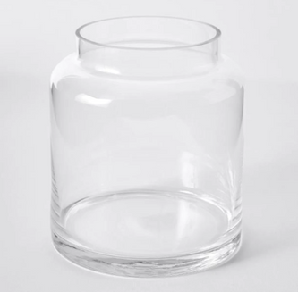 Wide Opening Glass Vase