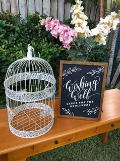 Large Birdcage Wishing Well
