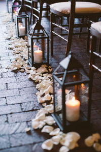 Black Lanterns with Candle