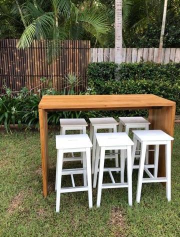Teak Bar Table $100.00