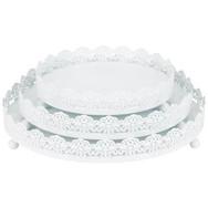 3 Peice Decorative Tray - White