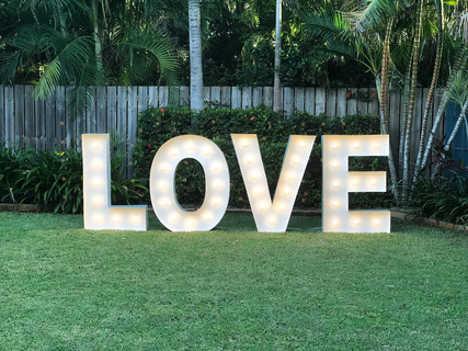 1.2mtr Light Up Love Letters