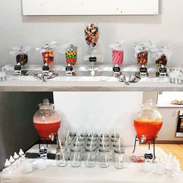 Lolly Buffet and Drinks Packages Available