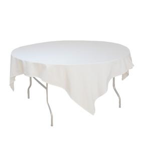 Round White Table Cloth