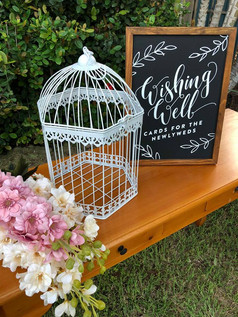 Small Birdcage Wishing Well