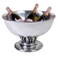 Round Silver Drink Tub