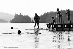 Trudeau_on_Lake_Harrington_©_Jean-Marc_Carisse_1983-31