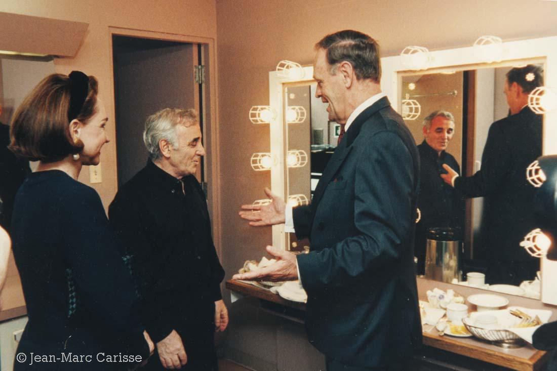 Aznavour & Chrétien, photo©Jean-Marc Carisse 1996