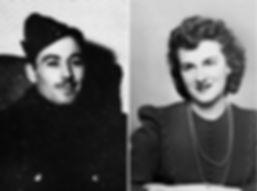 Carisse, Léo & Alberte, début années 40.
