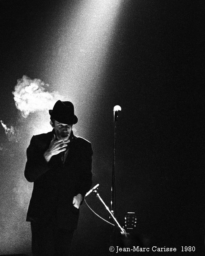 Tom Waits, photo©J.M.Carisse 1980