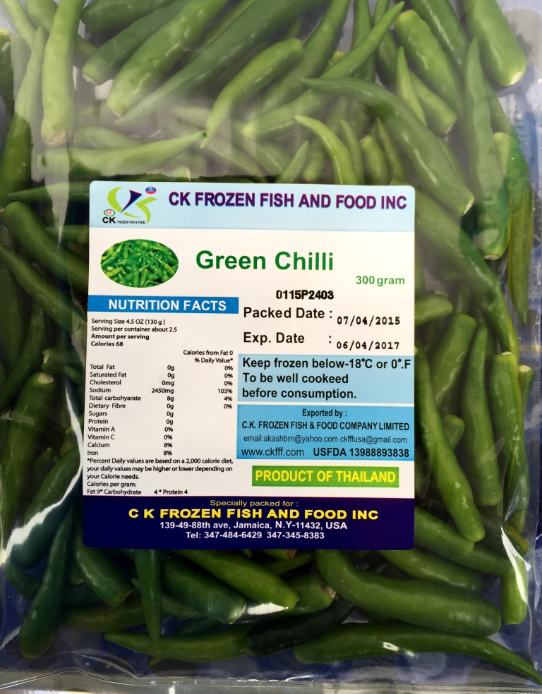 GREEN CHILI PACKET