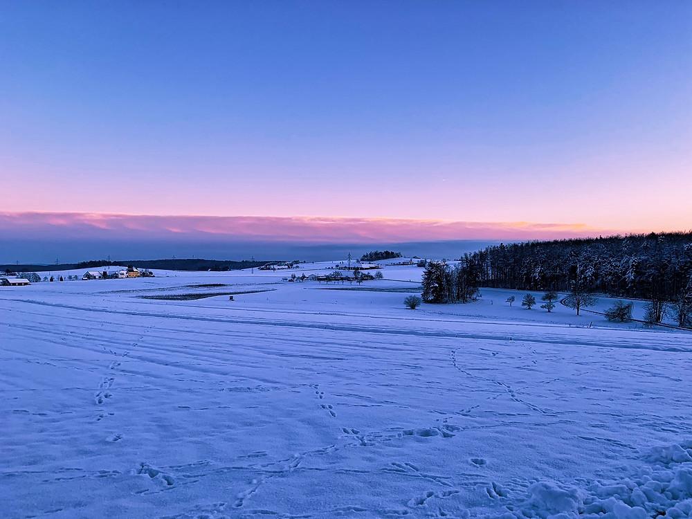 Waldviertel im Winter, fotografiert von Reportage Fotograf Marco Kokol