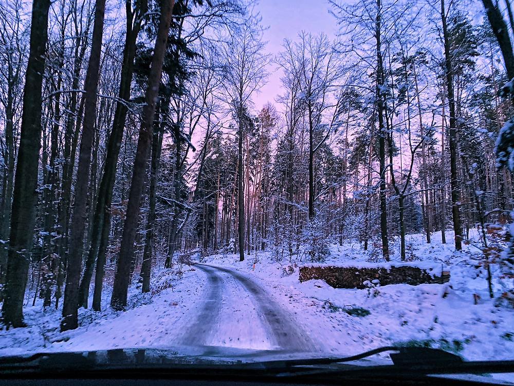 vereiste Straßen im Waldviertel