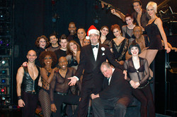 Huey Lewis and the cast of CHICAGO