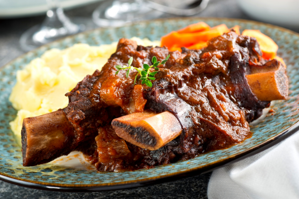 Asado meat on a plate