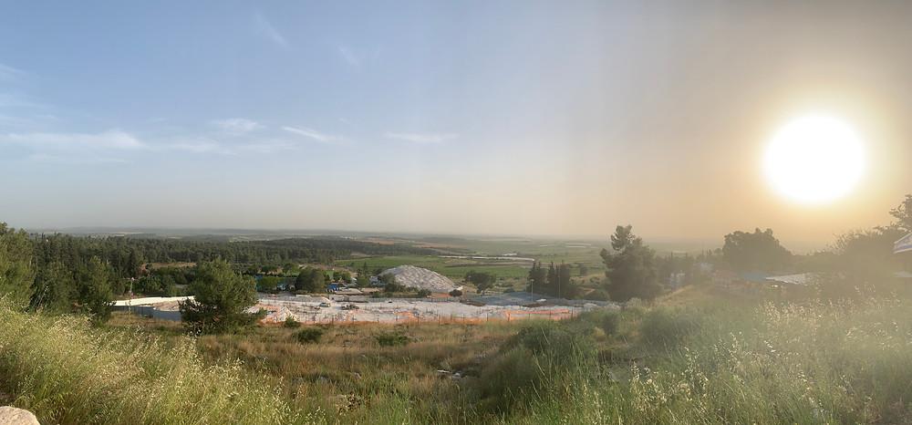 Panorama shot from the Karmei Yosef Viewpoint