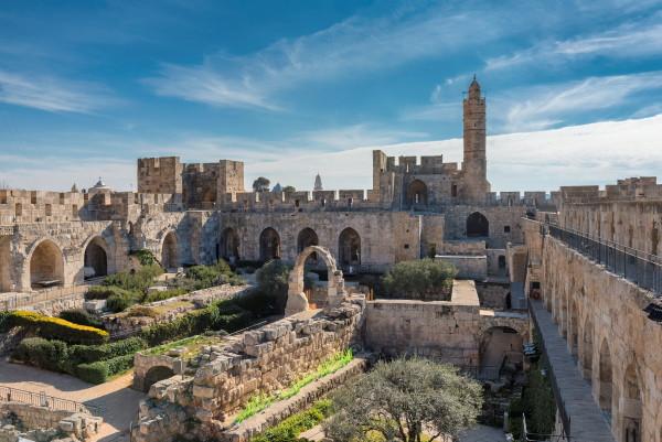 The archeological park in the David Citadel in Jerusalem