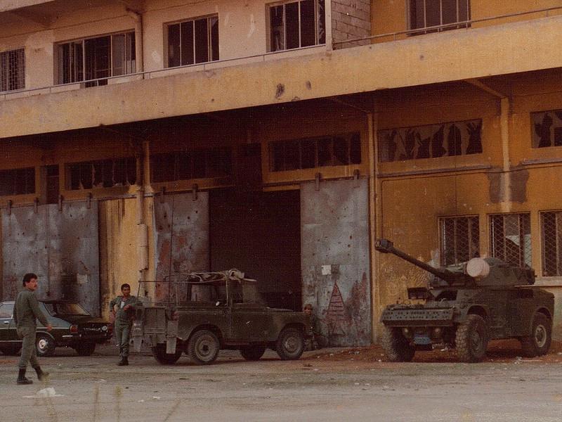 Lebanese army vehicles, Beirut, 1982