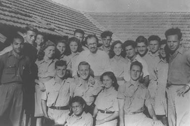 Menachem Begin with Irgun members